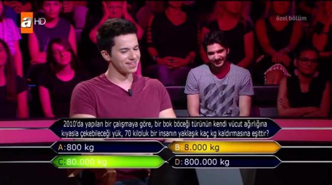 Milyoner'deki'Bok Böceği' Sorusu Murat Yıldırım'ı Gülme Krizine Soktu