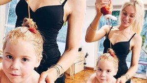 Fenomen Anne Kızının Saçlarını Ketçapla Yıkadı, Takipçileri Şaştı Kaldı