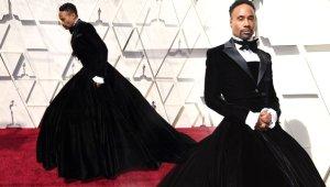 91. Oscar Ödül Töreninde Şıklık Yarışı! Ünlü Aktör Smokin Elbisesiyle Şoke Etti