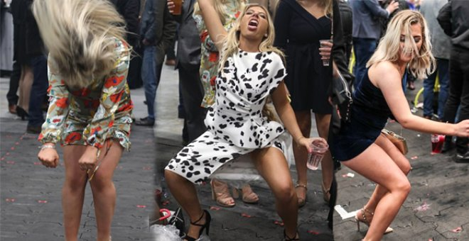 At Yarışını İzlemeye Giden İngilizler, Alkolün Dozunu Kaçırdı, Dans Edip Kendinden Geçti!