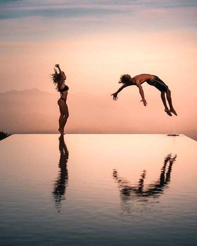 Instagram Fenomeni Çiftin, Ölüme Meydan Okuyan Havuz Fotoğrafı Ortalığı Birbirine Kattı!