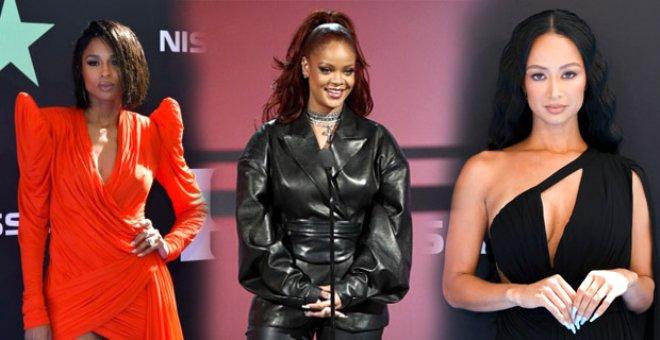 BET Ödülleri sahiplerini buldu! Rihanna'nın deri kombini kırmızı halıya damga vurdu
