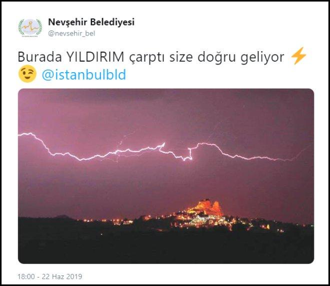 'YILDIRIM çarptı size doğru geliyor' paylaşımı ortalığı karıştırdı! İşte belediyelerin Twitter atışması