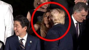 Trump'ın First Lady'i yakalayıp öpmesi sosyal medyayı salladı!