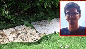 Uçağın iniş takımlarında uçan yolcu, evinin bahçesinde güneşlenen adamın yanına düştü