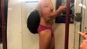 Metroya iç çamaşırıyla bindi herkes şaştı kaldı! İşte İngilizler'in çok acayip sıcak hava önlemleri