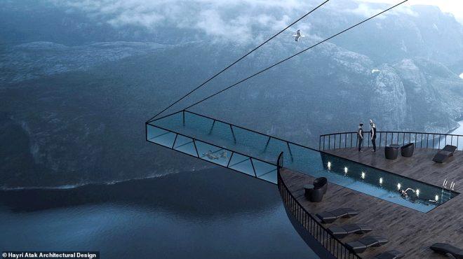 Türk mimar tasarladı! 600 metrelik uçurumun kenarına otel inşa edecekler