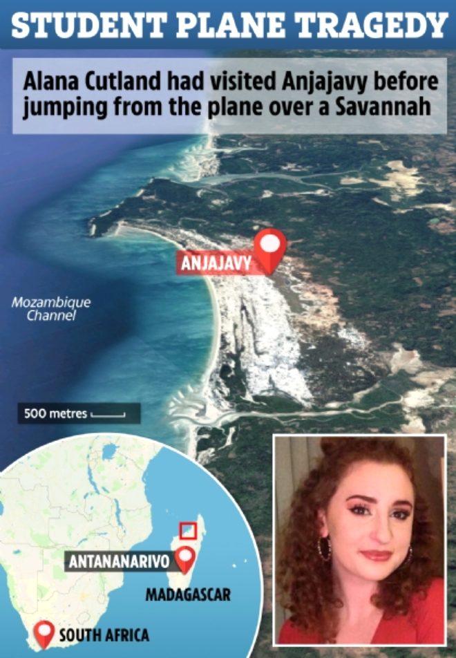 Okul gezisi sırasında uçaktan atlayan üniversite öğrencisinin cesedi, her yerde aranıyor
