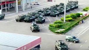 Çin ordusu harekete geçti! Hong Kong sınırına askeri sevkiyat yapıyor