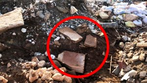 Moloz yığınlarının arasında bulundu, tarihi eser çıktı!