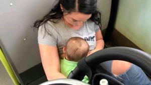Bebekli kadına büyük ayıp! Trende kimse yer vermeyince yere oturup emzirdi