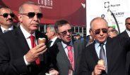 Açılışta renkli anlar! Putin ve Erdoğan, Moskova'da külah dondurma yedi
