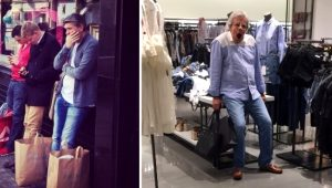 Galeri: Alışverişte eşlerini bekleyen erkeklerin halleri