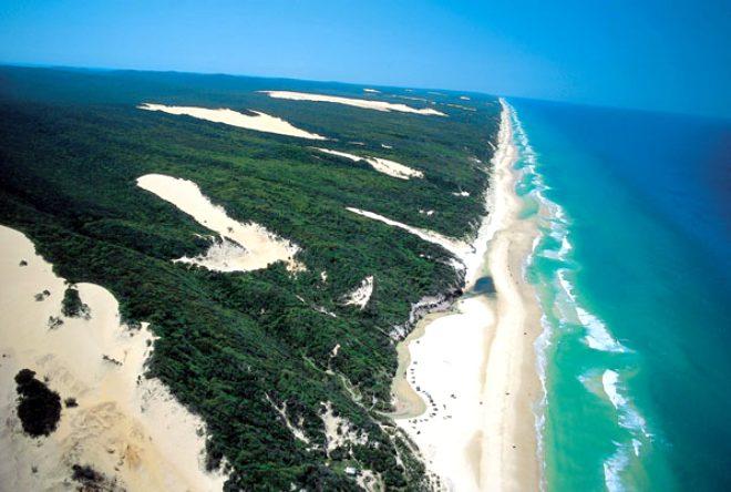 Fraser Adası sahili, Avustralya