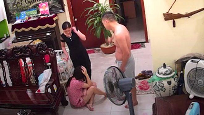 Vahşi koca, kucağında 2 aylık bebeği olan karısını öldüresiye dövdü!