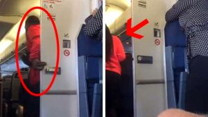 Uçak tuvaletinde rezalet! Ünlü sporcu o anları cep telefonu kamerasıyla kaydetti