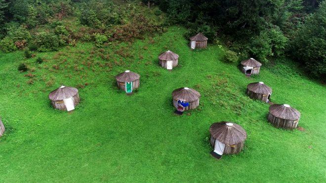 Burası Trabzon! Kamıştan yapılan otantik çadırlarla Oğuz Boyu geleneğini sürdürüyorlar