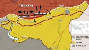 Fırat'ın doğusunda terörden arındırılacak bölgeler