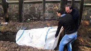 İzmir'de toprağa gömülü halde bulundu! Tam 250 kilo