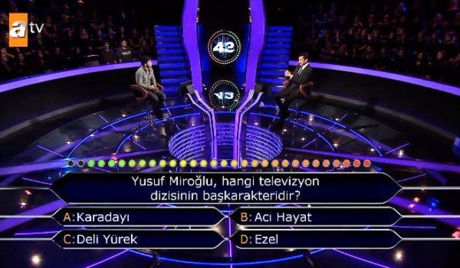 Milyoner'de ilginç anlar! 'Yusuf Miroğlu' sorusu için yardım istedi, İmirzalıoğlu'nun yanıtı olay oldu