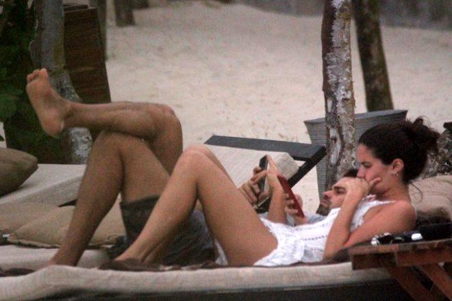 Kıvanç Tatlıtuğ ile aşk yaşadığı iddia edilen Portekizli model Sara Sampaio, sevgilisiyle görüntülendi!