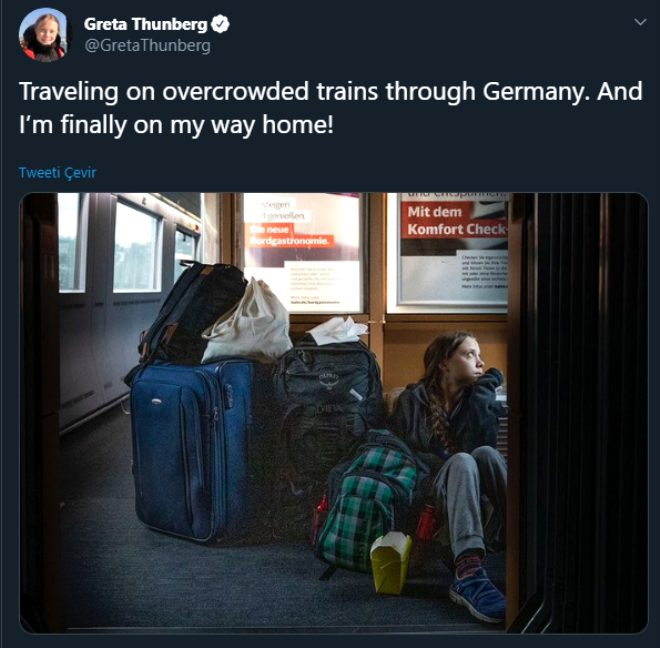 Greta Thunberg, trende yer bulamadığını ima edip bu fotoğrafı paylaşmıştı, gerçek ortaya çıktı!