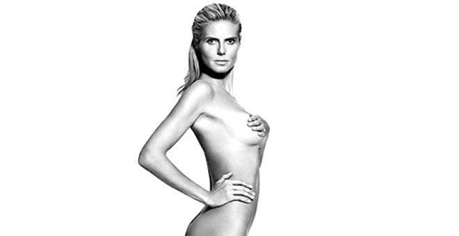 46'lık süper model Heidi Klum çırılçıplak pozuyla sosyal medyaya damga vurdu