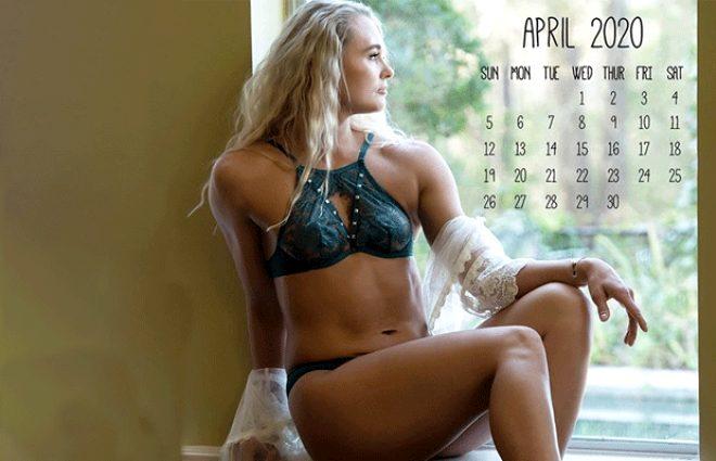 Amerikalı kick boksçu Andrea Lee, 'Bunu daha önce de yaptım' diyerek yeşil iç çamaşırlı pozunu paylaştı
