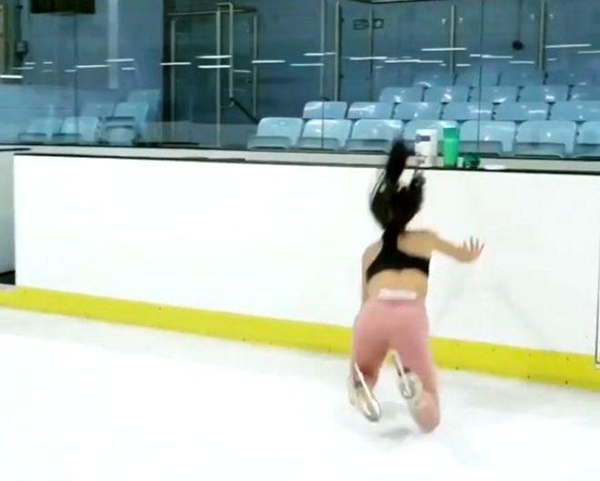 Alman buz patencisi Vanessa Bauer, dehşeti yaşadı! Bir anda yere kapaklandı