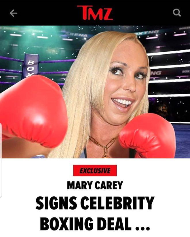 Eski yetişkin film yıldızı Mary Carey boksör oldu! Maç biletleri şimdiden tükendi