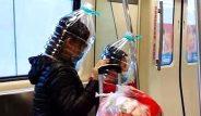 Koronavirüs çaresizliğinin boyutu! Maske kıtlığından kafalarına pet şişe ve poşet geçirdiler