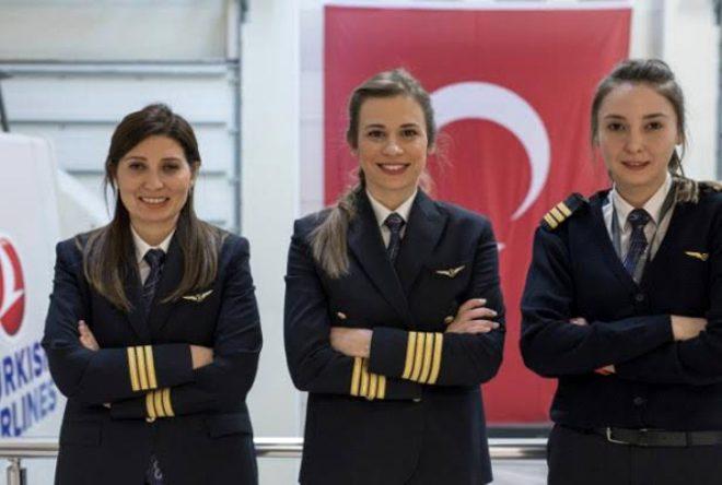 Kadın pilot sayısında rekora koşuyordu