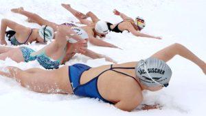 Alman yüzücüler, Palandöken'de karda kulaç atarak Avrupa Şampiyonası'na hazırlandı!