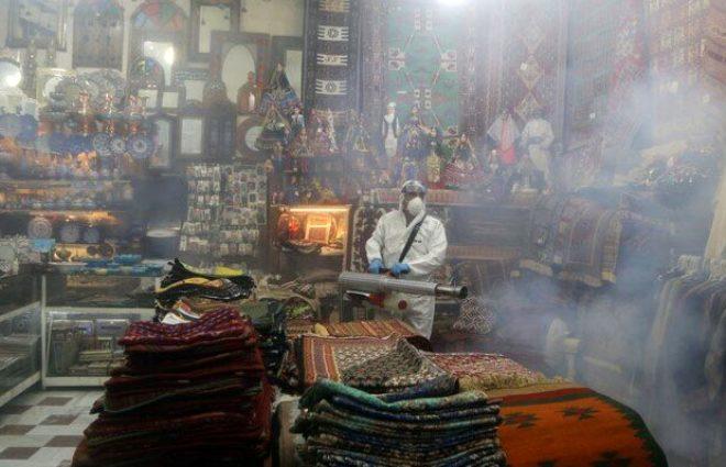 İran 124 kişinin ölümüne neden olan koronavirüse savaş açtı! Görüntüler bilim kurgu filmlerini aratmadı