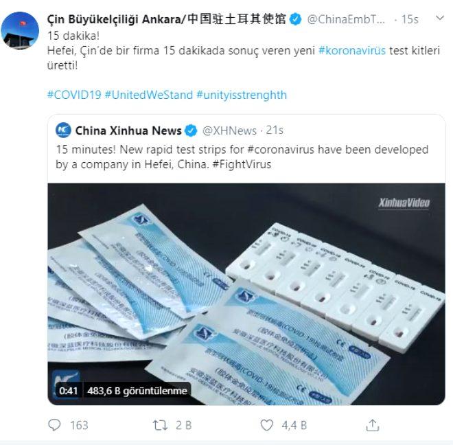 Çin'den katil virüse karşı süper buluş! 15 dakikada tespit ediyor
