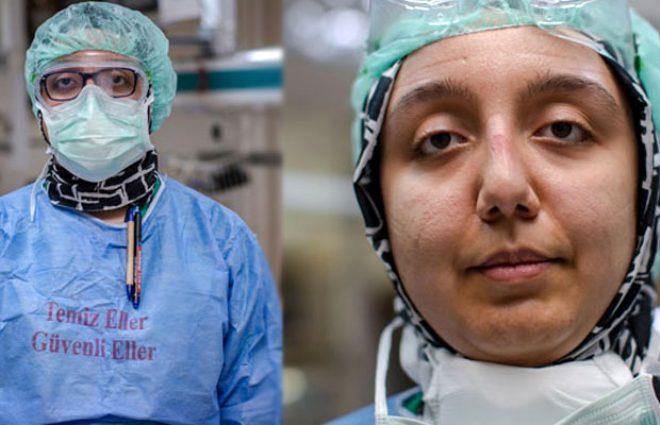 Koronavirüs savaşçıları maskelerini çıkardı! Yüzleri yara içinde kalan sağlık çalışanlarının tek bir isteği var
