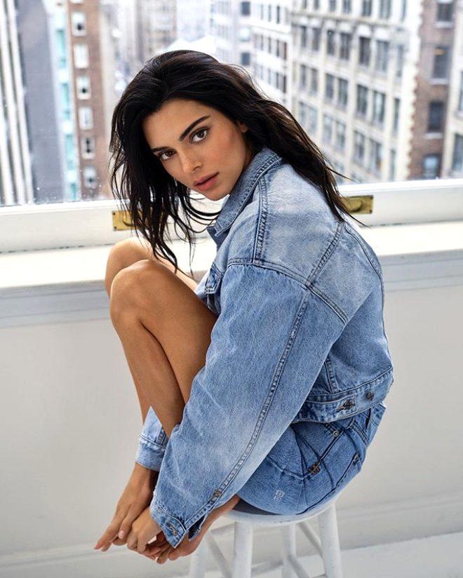 Ünlü model Kendall Jenner'ın dantelli iç çamaşırlı fotoğrafına beğeni yağdı