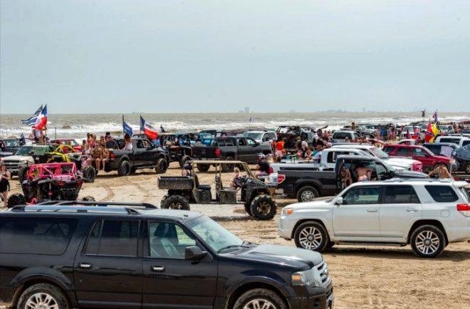 Virüsü umursamayan gençlerin sahile akın ettiği çılgın festivale büyük baskın! 200 kişi gözaltına alındı