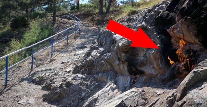 Amanoslar'ın sonsuz ateşi! Yüzyıllardır yanan kayalar turizme kazandırılacak