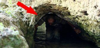 Ünü tüm Türkiye'ye yayıldı! Su akan tünelde şifa bulmak için iki büklüm oluyorlar