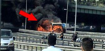 Her gün yüzlerce insanın bindiği metrobüs alev alev yandı! Vatandaş o anları korku içinde izledi