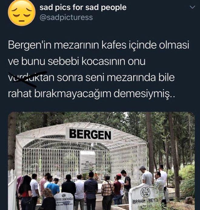 Vahşice öldürülen Bergen'in mezarının kafes içinde olma nedeni yürek yaktı