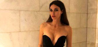 Defne Samyeli bikinisinin üzerine giydiği file elbisesiyle büyülüyor