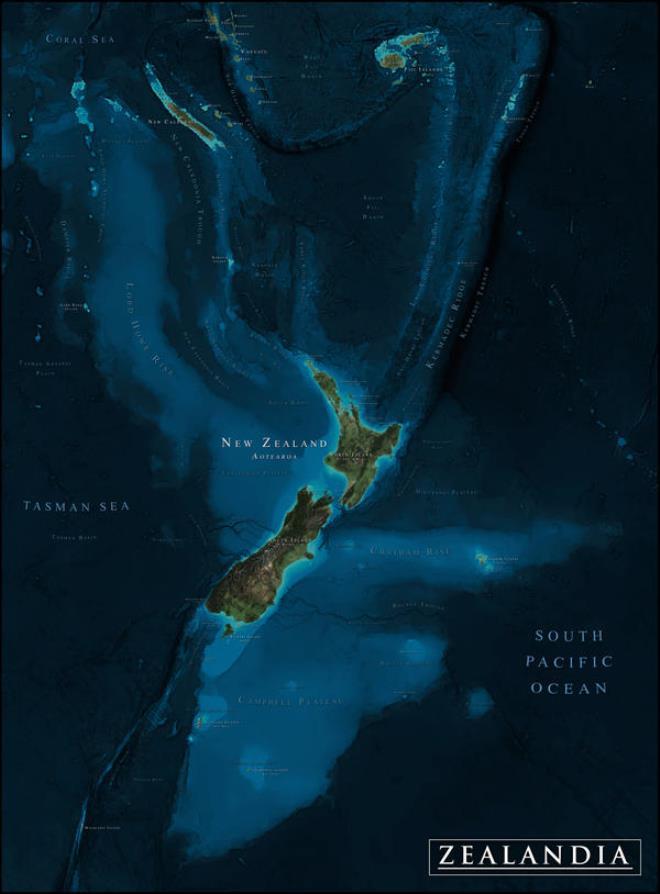 85 milyon yaşında! Dünyanın kayıp 8. kıtası Zelandiya'nın şekli gün yüzüne çıktı