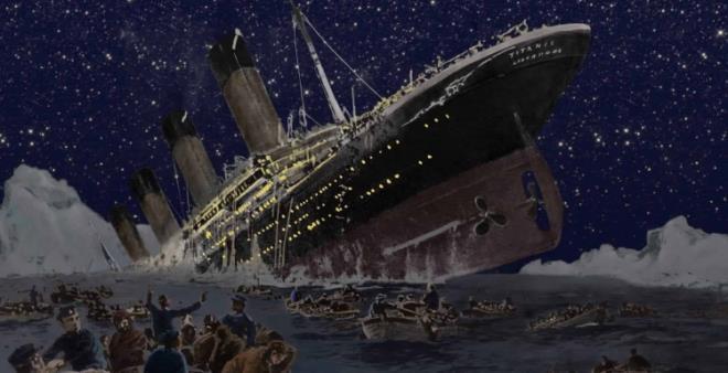 1912 yılında okyanusun karanlık sularına gömülen Titanic batarken bakın kaptan ne yapıyormuş!