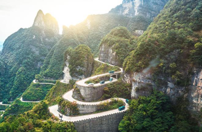 Tianmen Dağ Yolu, Hunan, Çin
