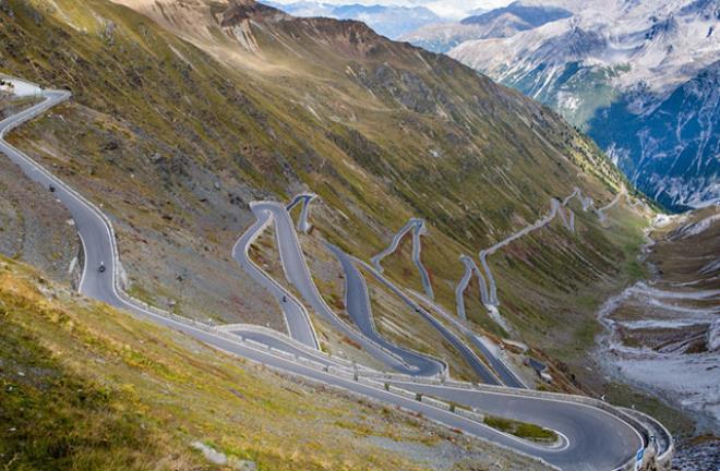 Stelvio Pass, Doğu Alpler, Italya