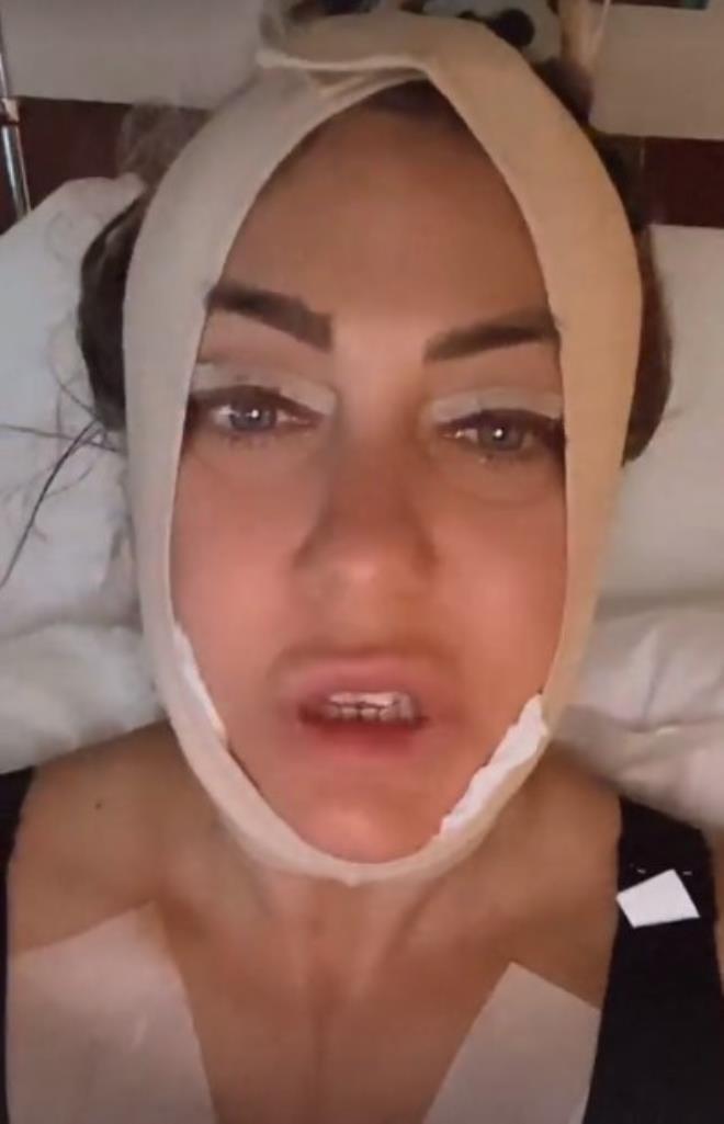 Gıdı ve göz kapağı estetiği olan Yeliz Yeşilmen hastane yatağından paylaştı! Bir detay dikkat çekti
