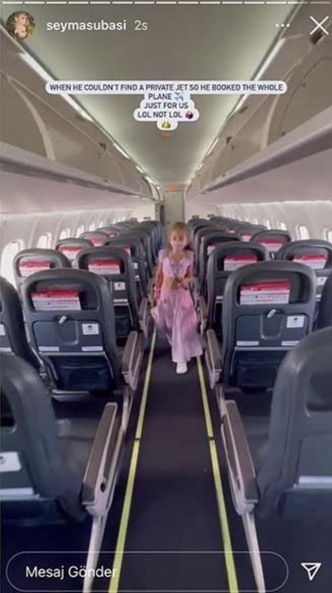 Gösteriş meraklısı Şeyma iş başında! Milyarder sevgilisi uçak kapattı, o da paylaştı