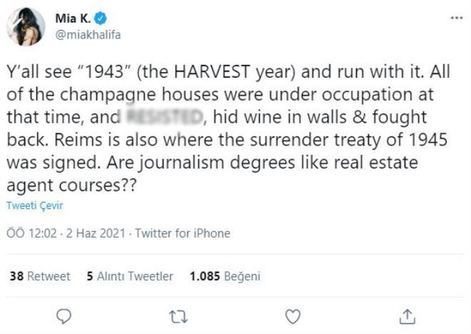 Yetişkin film yıldızı Mia Khalifa'nın attığı tweet, İsrail destekçilerini çıldırttı